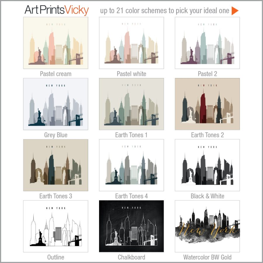 12 from 21 color schemes landscape