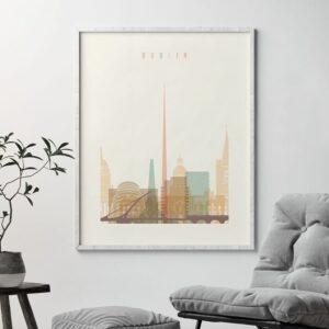 Dublin Art Print Skyline Pastel Cream second