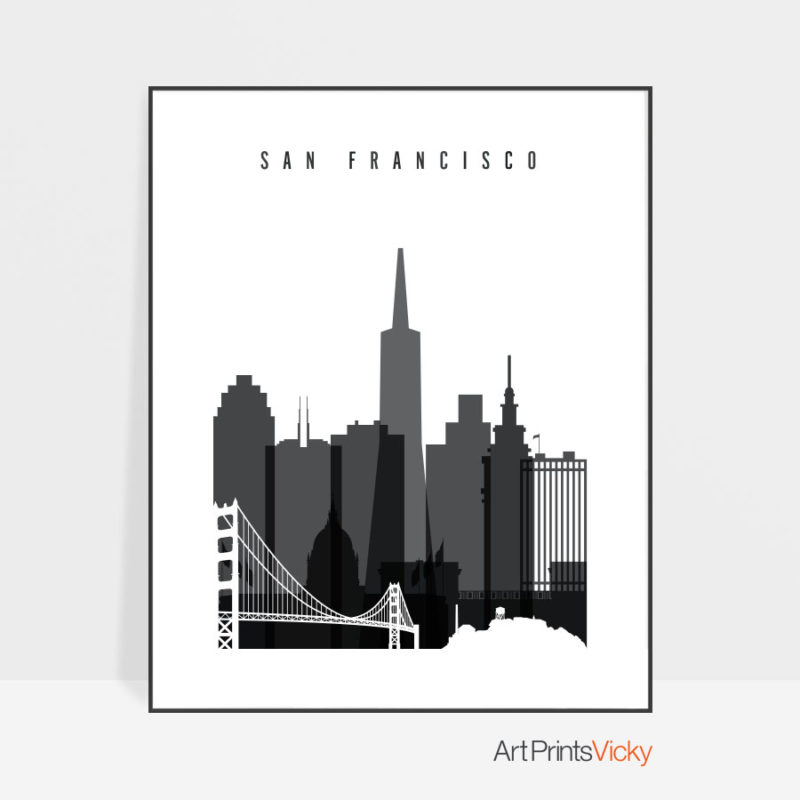 San Francisco poster black and white