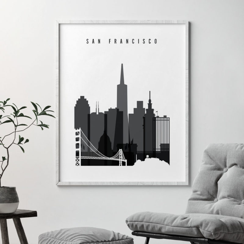 San Francisco poster black and white second