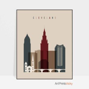 Cleveland poster earth tones 2