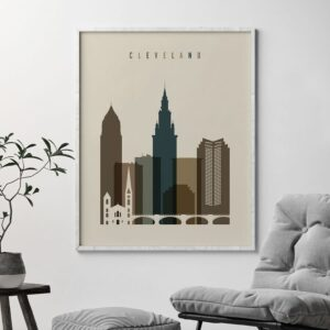 Cleveland poster earth tones 2 second