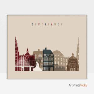 Copenhagen print landscape earth tones 2