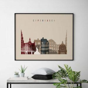 Copenhagen print landscape earth tones 2 second
