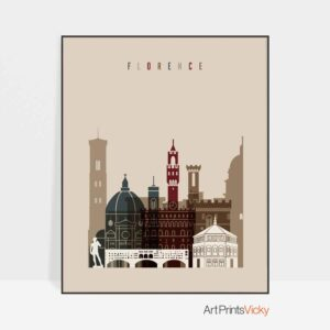 Florence poster earth tones 2