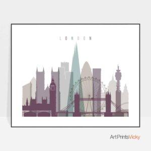 London art print landscape pastel 2