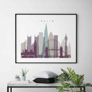 London art print landscape pastel 2 second