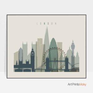 London print earth tones 1 landscape