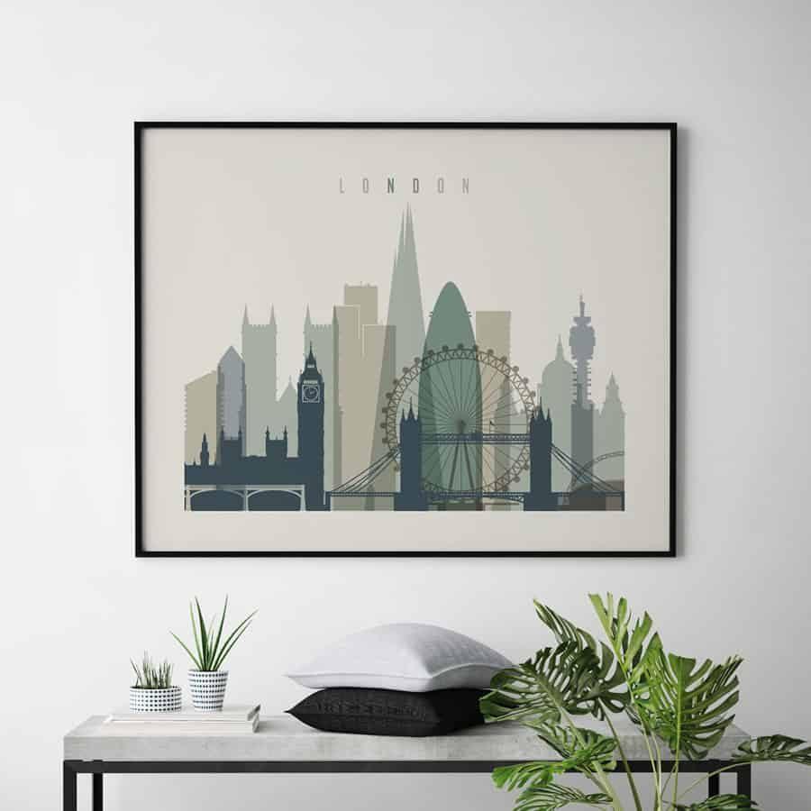 London print earth tones 1 landscape second