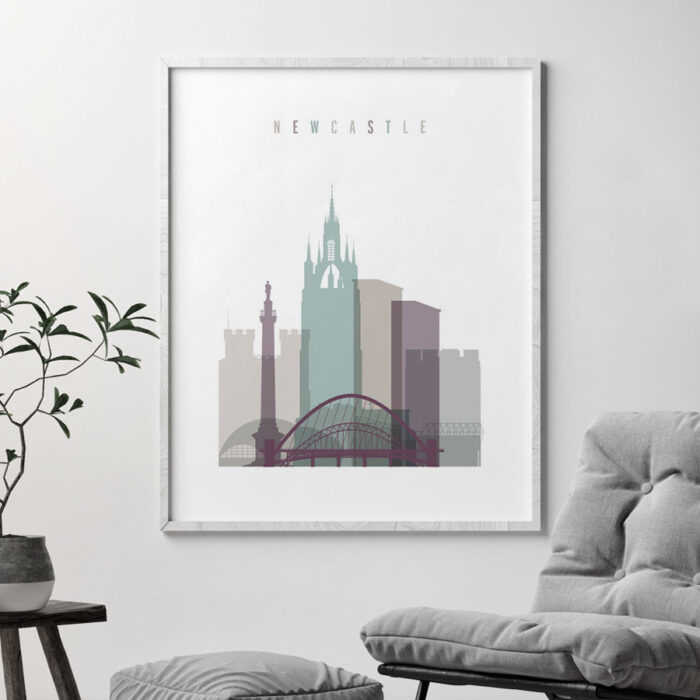 Newcastle print skyline pastel 2 second