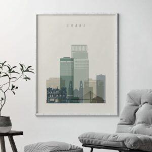 Omaha print skyline earth tones 1 second