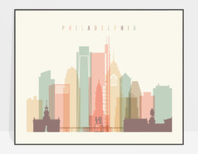 Philadelphia wall decor pastel cream landscape