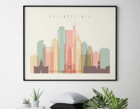 Philadelphia wall decor pastel cream landscape second
