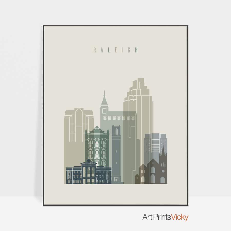 Raleigh print skyline earth tones 1