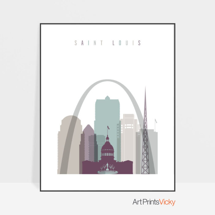 Saint Louis art print poster pastel 2