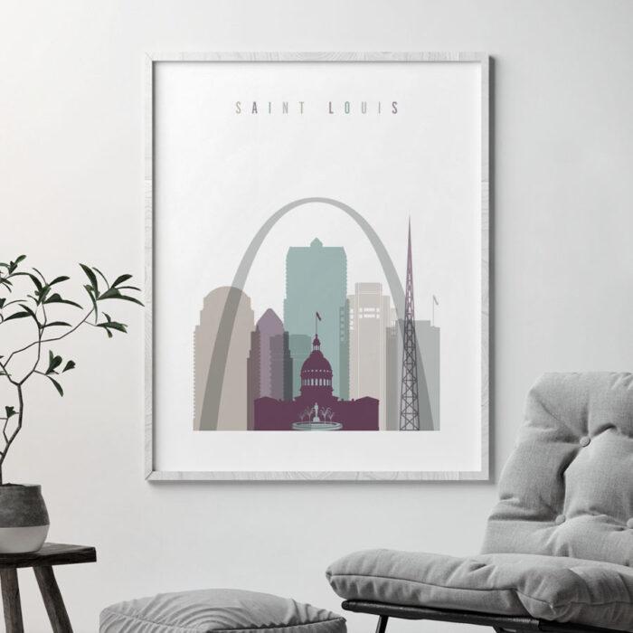 Saint Louis art print poster pastel 2 second