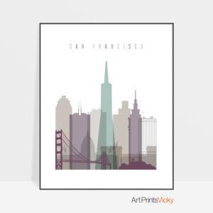 San Francisco print skyline pastel 2