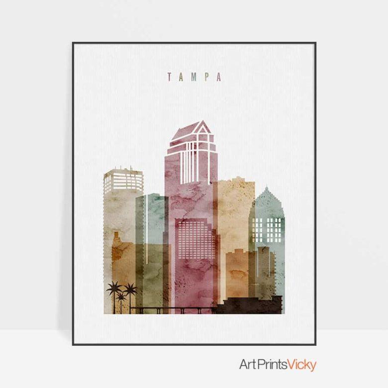 Tampa art print watercolor 1