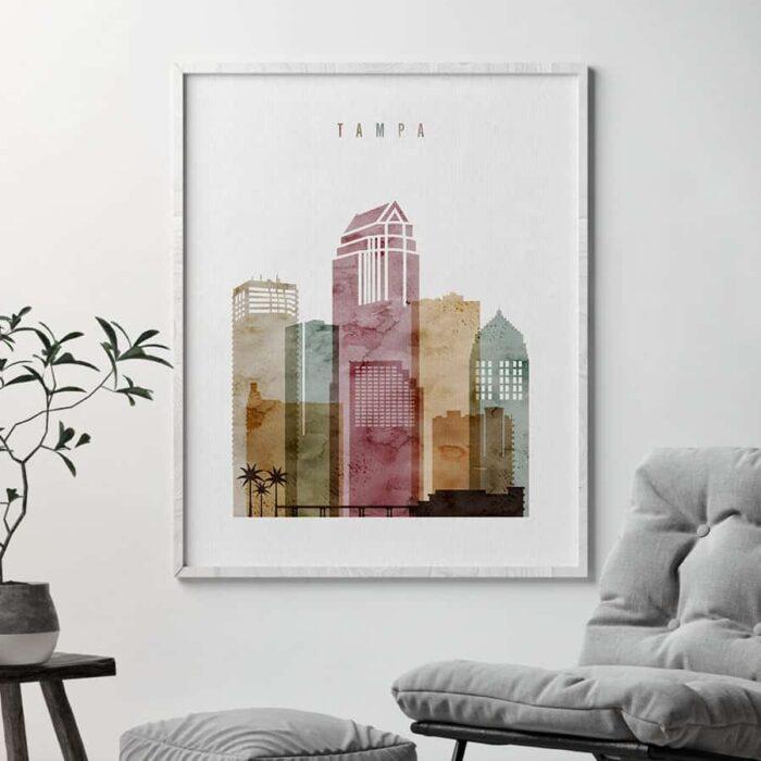 Tampa art print watercolor 1 second