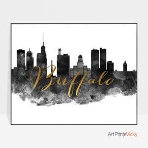 Buffalo skyline poster landscape