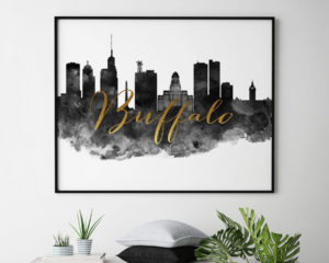 Buffalo skyline poster landscape second