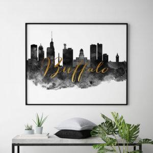 Buffalo skyline poster landscape second