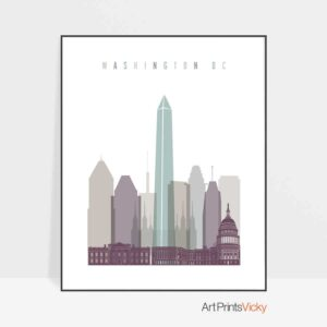 01Washington DC skyline print pastel 2