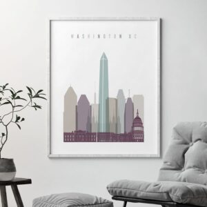 01Washington DC skyline print pastel 2 second