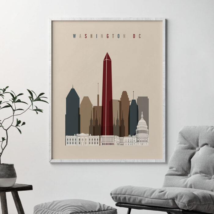 Washington DC poster earth tones 2 second