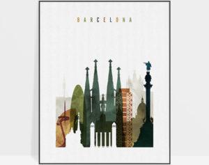 Barcelona art print watercolor 3
