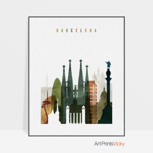 Barcelona art print watercolor 3