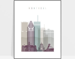 Montreal skyline poster pastel 2