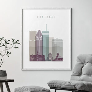 Montreal skyline poster pastel 2 second