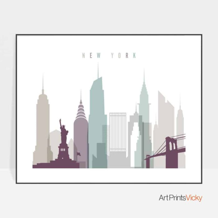 New York poster landscape pastel 2