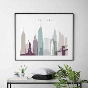 New York poster landscape pastel 2 second