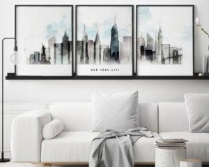 New York set 3 posters urban second