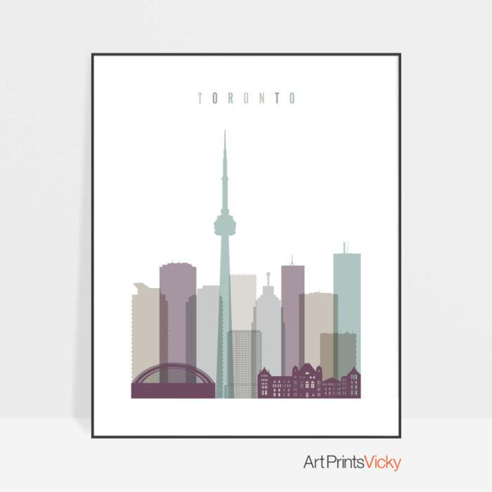 Toronto skyline poster pastel 2