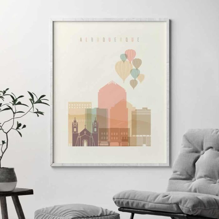 Albuquerque art print pastel cream second