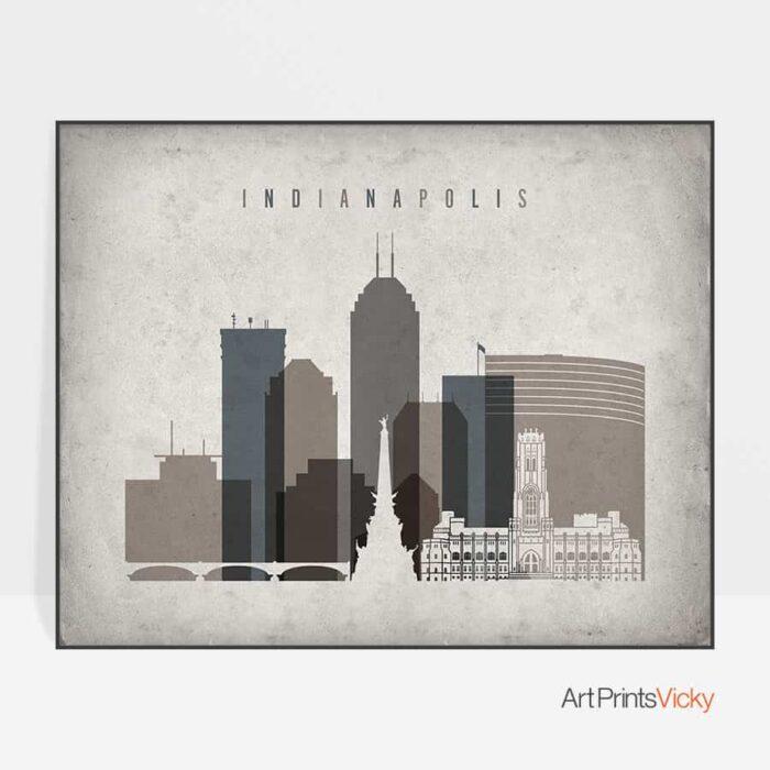Indianapolis poster landscape retro
