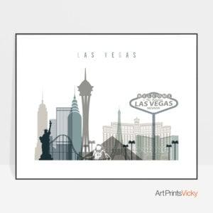 Las Vegas art print landscape earth tones 4