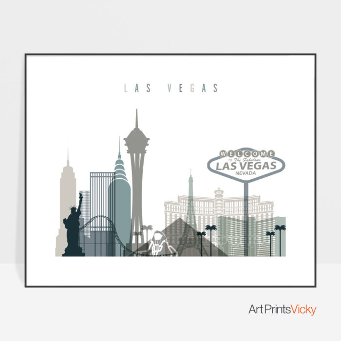 Las Vegas print landscape earth tones 4