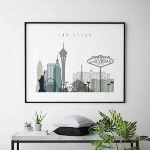 Las Vegas art print landscape earth tones 4 second