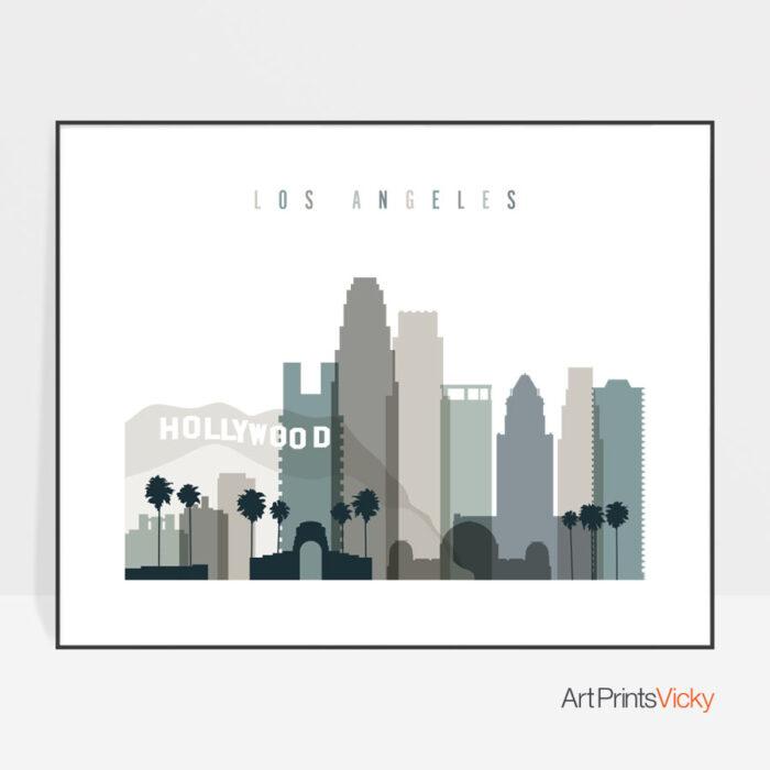 Los Angeles Print Landscape Earth Tones 4