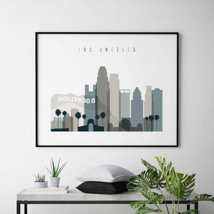 Los Angeles art print landscape earth tones 4 second