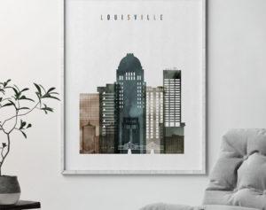 Louisville wall art print watercolor 2 second
