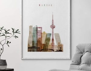 Madrid poster watercolor 1 second