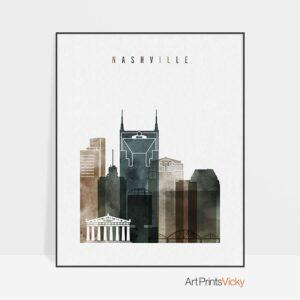 Nashville art print watercolor 2