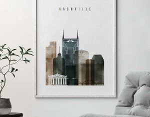 Nashville art print watercolor 2 second