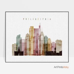 Philadelphia print landscape watercolor 1