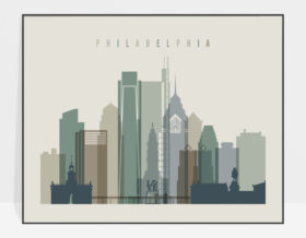 Philadelphia wall art landscape earth tones 1